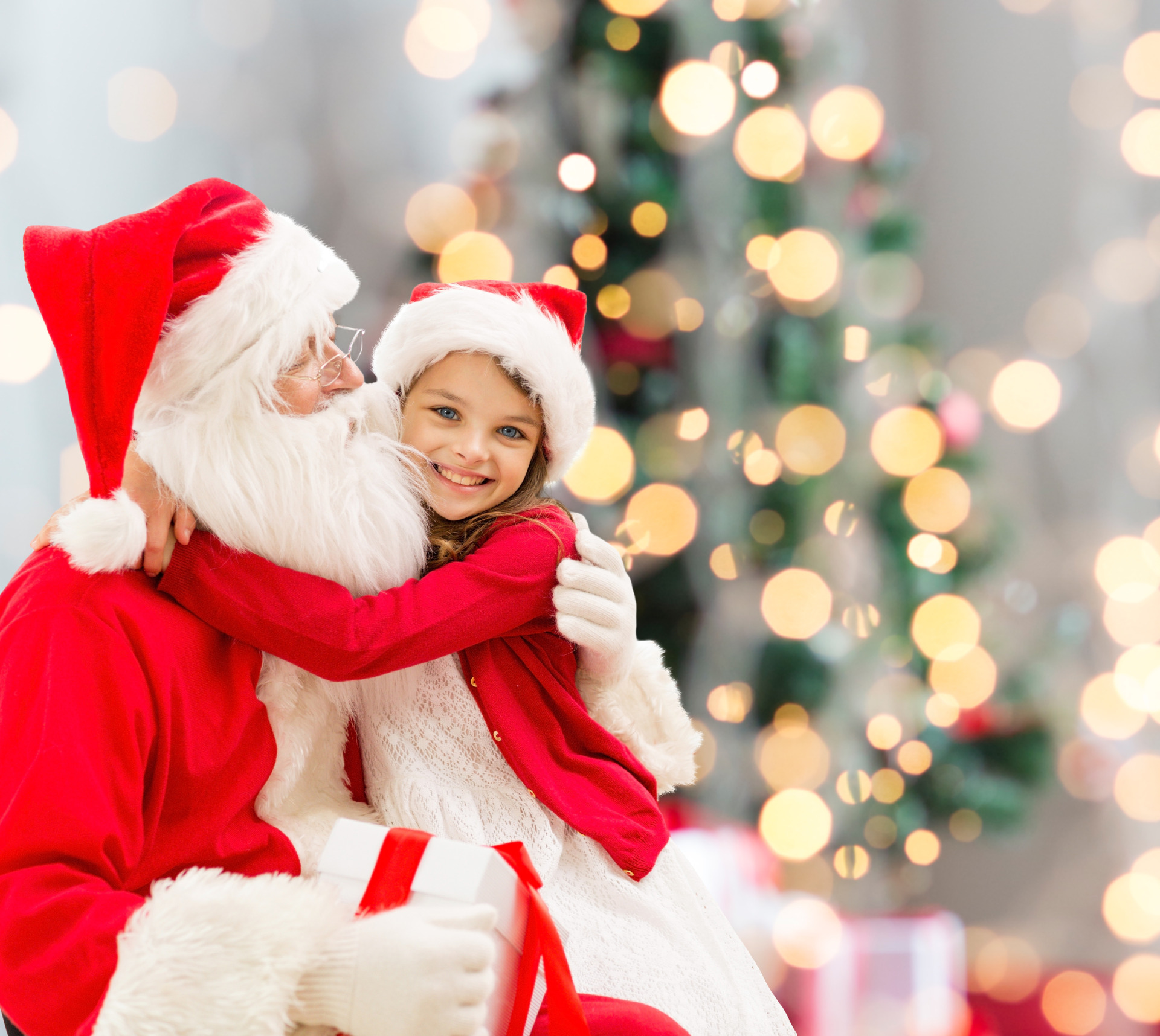 Picture of Santa With Girl